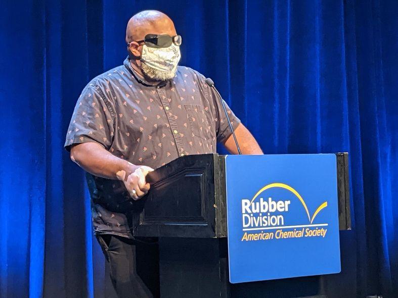 Duane Dunston delivers the keynote address to open 2021 International Elastomer Conference in Pittsburgh
