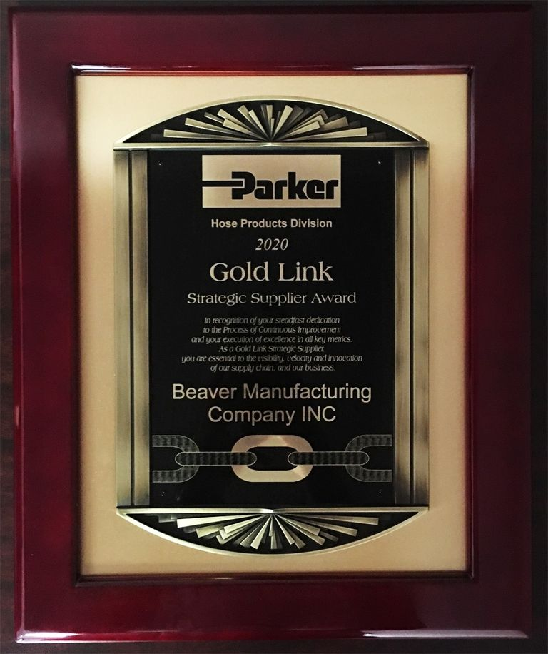 Parker hose business honors Beaver Manufacturing with supplier award