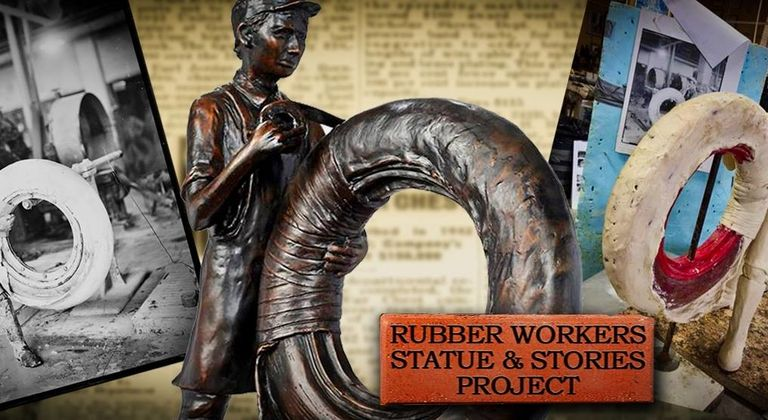 Akron to salute rubber workers with statue unveiling this summer