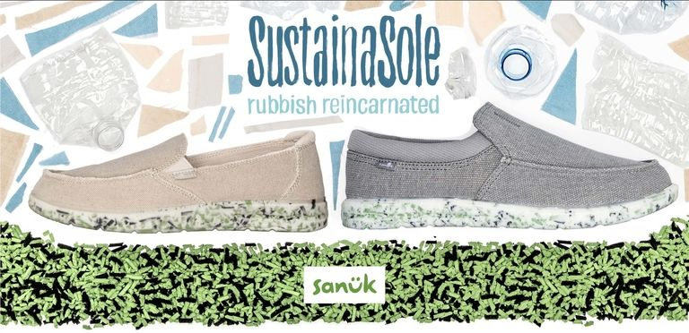 Sanuk shoe soles recycle polyurethane