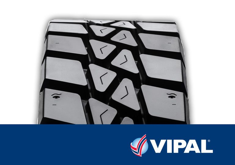 Vipal's new tire tread designed for 'aggressive applications'