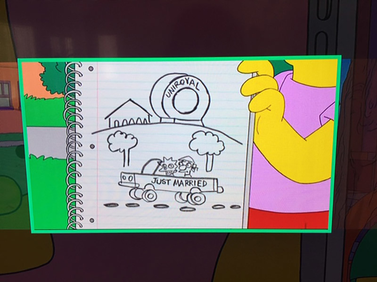 Wacky World of Rubber: Giant Uniroyal Tire gets 'Simpsons' shoutout