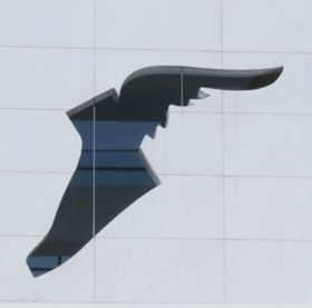 Goodyear wingfoot logo Akron