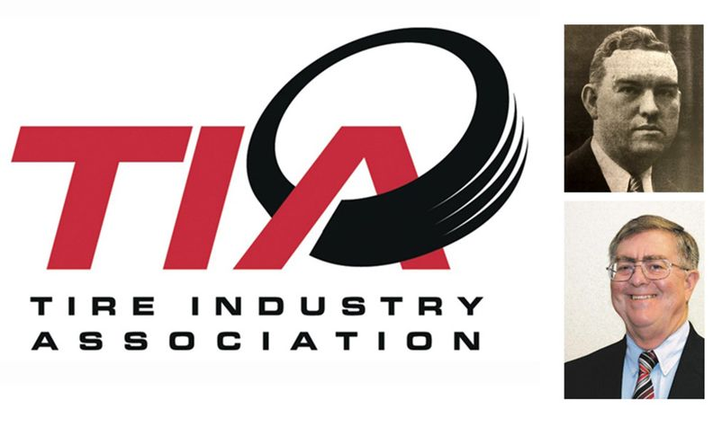 Tire Industry Association logo with photos of Littlefield and Barry